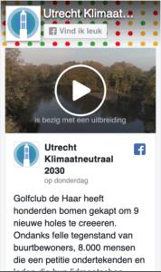 utrecht klimaatneutraal 2030 facebook pagina